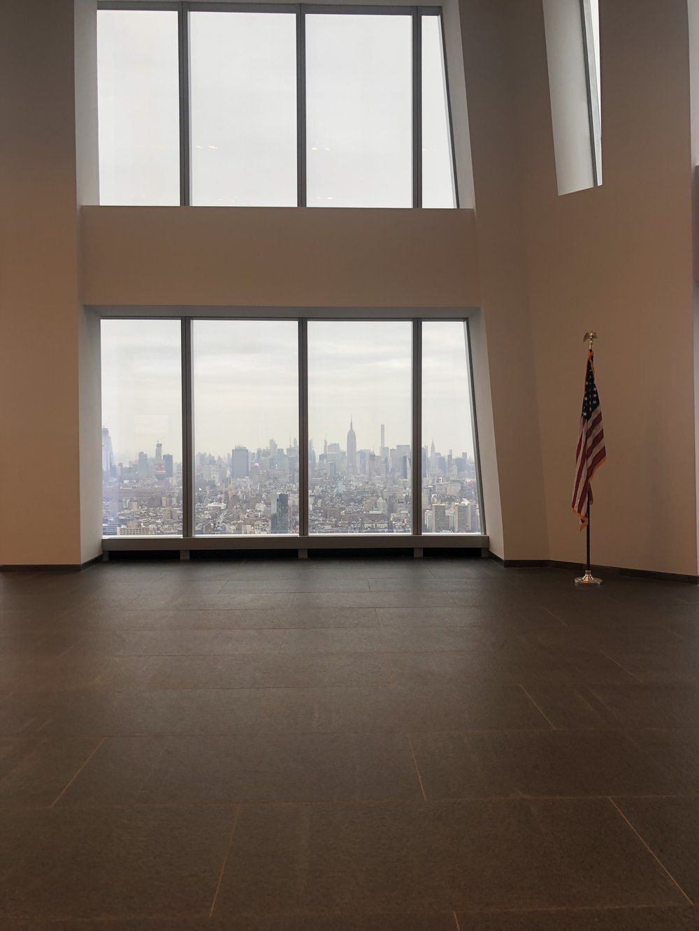 View from the 60th floor (the viewing room) at One WTC