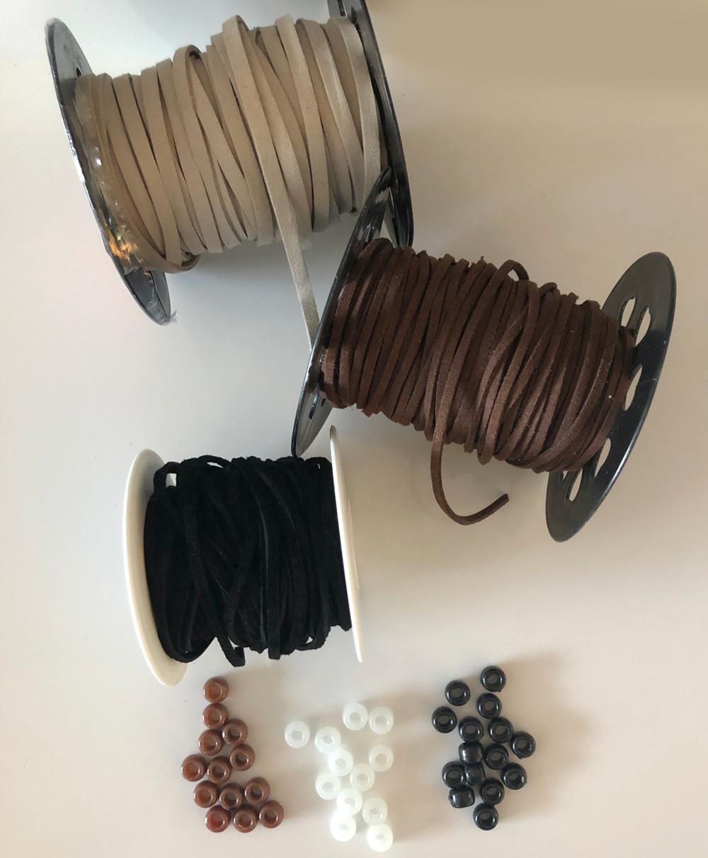 Custom dreamcatchers, cord and beads