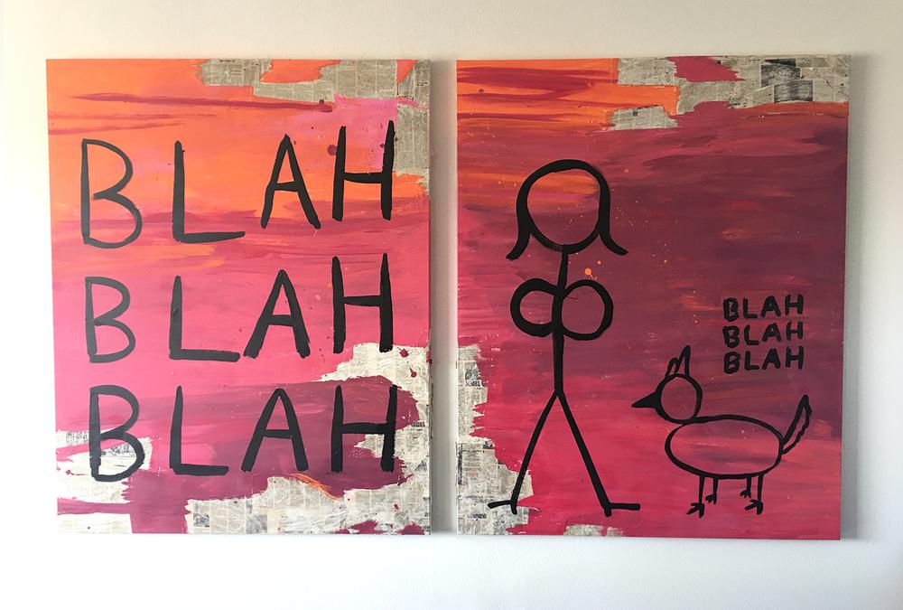 Artwork by Julia Gomelsky, Blah Blah Blah