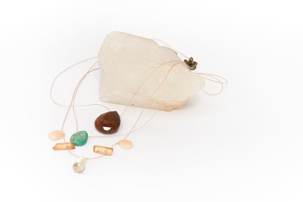 - We're bringing back our Floating Stone pop up workshop just in time for summer! These delicate gemstone and silk necklaces are the perfect lightweight accessory.  Click here to register online.Call us at 512-963-2323 to register by phone.