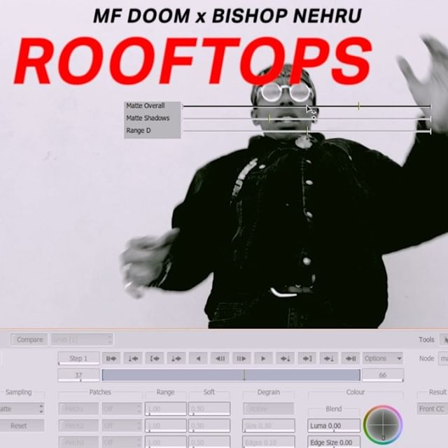 Some Design & Visual Effects work from 2018. This is ROOFTOPS by BISHOP NEHRU x MF DOOM.  @bishychulo, Music  @luigirossi.tv, Producer @getmezzy, Director @lvalladao, Cinematographer  @stevewithav, Editor @itsyosquared, 3D Artist @FAMILY, Design + VFX