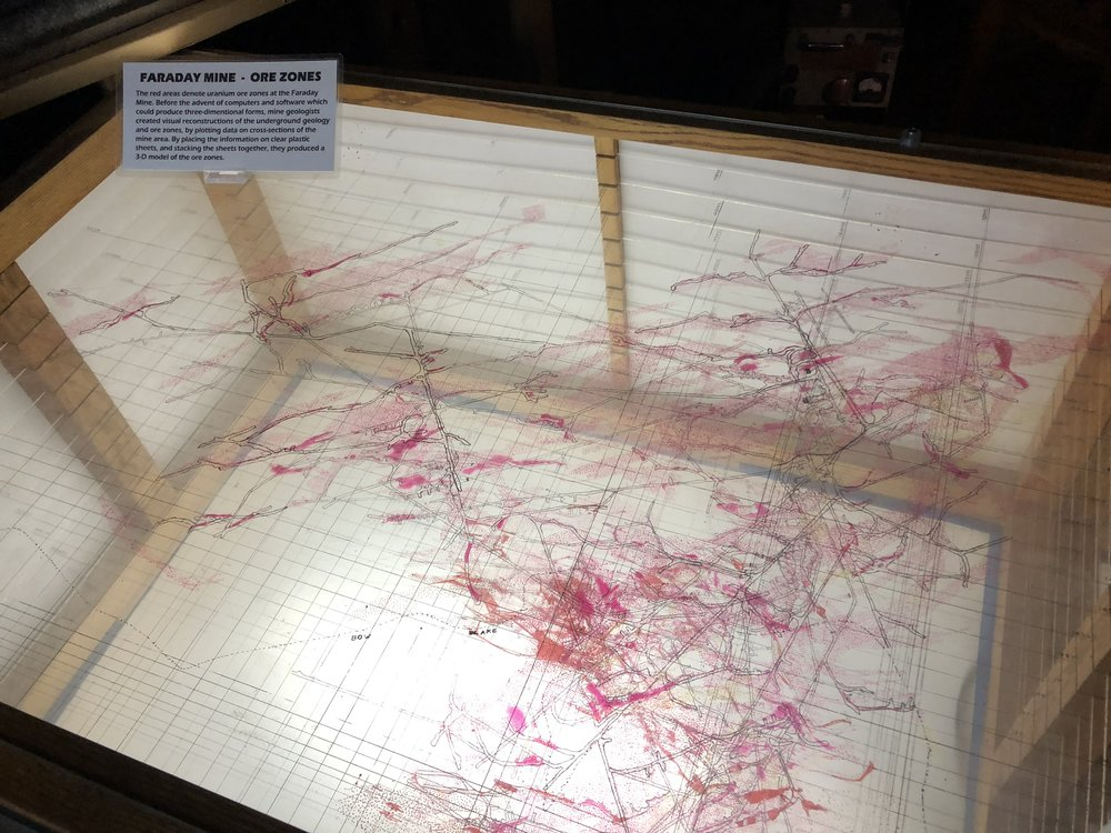 A 3D map of a mine (at the Bancroft Mineral Museum)