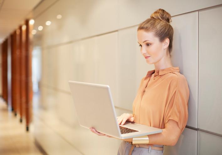 woman computer cooridor.jpg