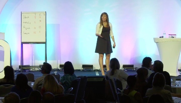 Maggie Nichols giving Innovation Keynote for March of Dimes