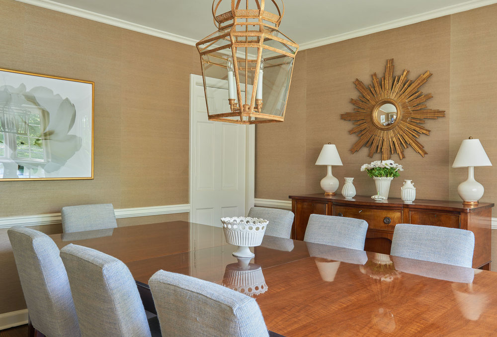 Q Interiors - Dining Room Lighting