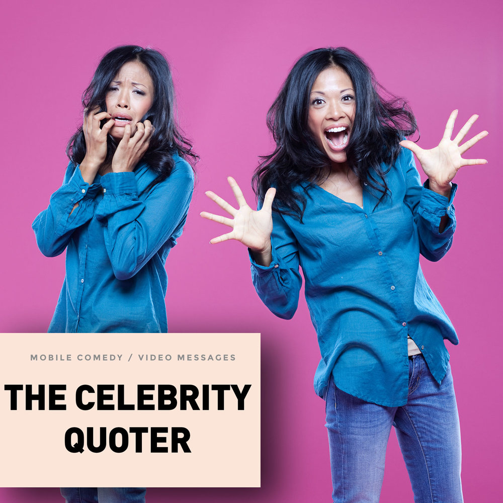 Send celebrity-inspired greetings, sorority girl messages by Jackie, of the Celebrity Quoter collection. A 30-year old former sorority girl,  probably bi-polar,  whose mind is always on the blogs and the magazines. She always has her nails done and takes fashion inspiration from celebrities.