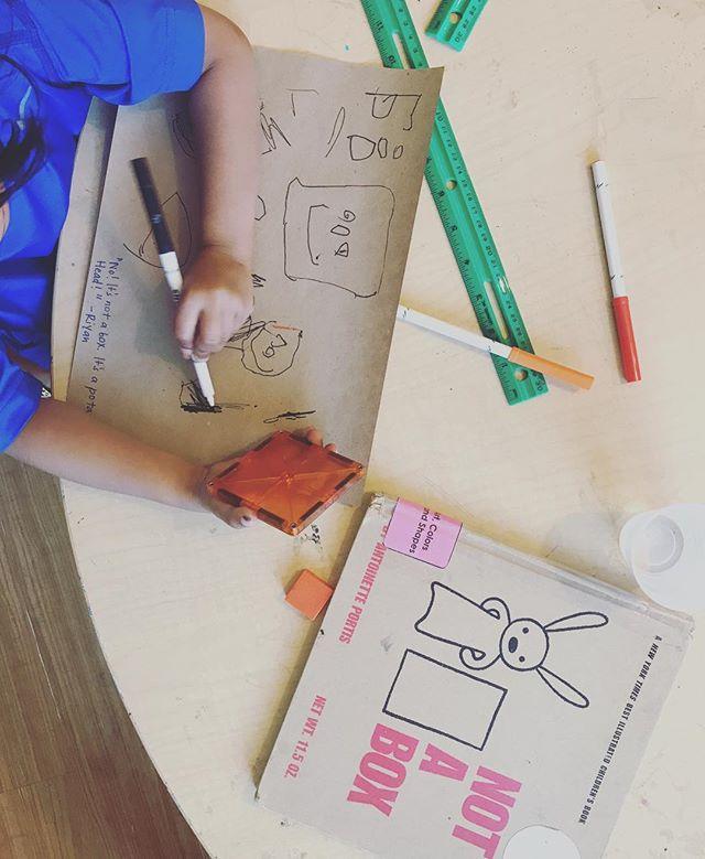 """It's not a box. It's a Potato-Head!"" #booksthatinspire #box #learninghoney #earlychildhood #earlyliteracy #art"