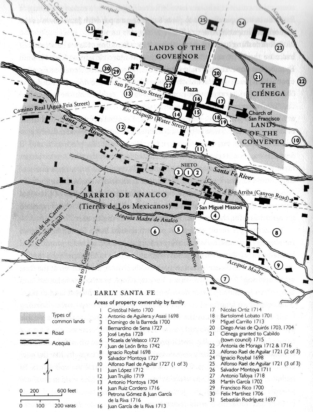 25 - Downtown Santa Fe 1730 (Map 3)