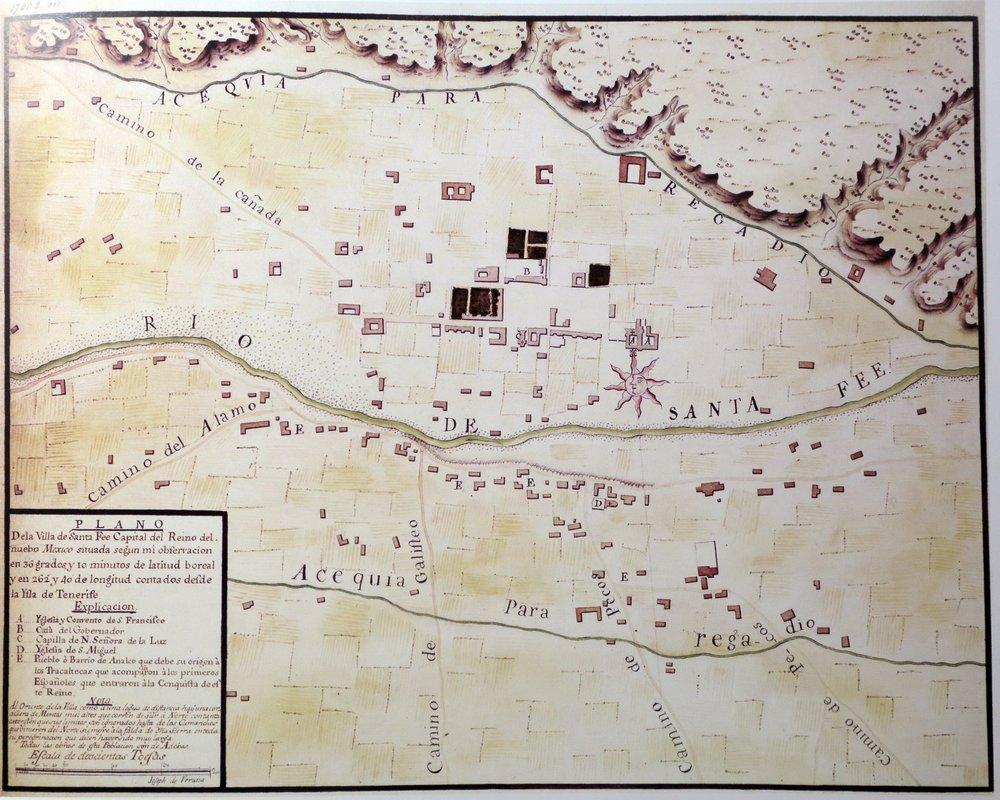 Map of Santa Fe, 1767