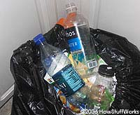 Water Bottles in the Trash; http://home.howstuffworks.com/bottled-water4.htm