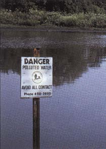 Warning Sign of Polluted Water on the Great Lakes;   https://www.epa.gov/greatlakes#1