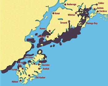 Location of Exxon Valdez Oil Spill
