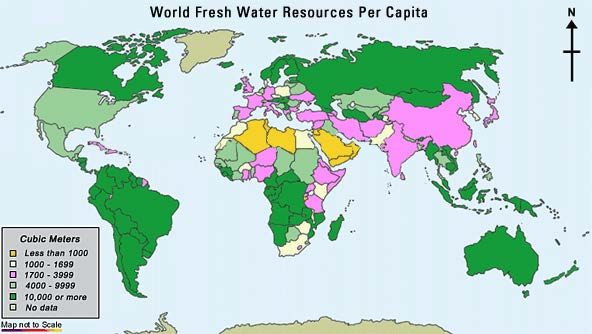 World Fresh Water Resources Per Capita