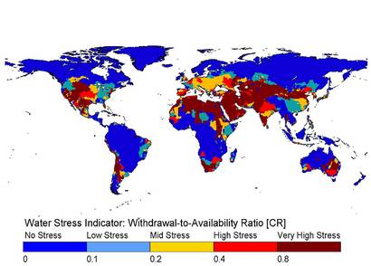 Water Stress Indicator: Withdrawal-to-Availability Ratio