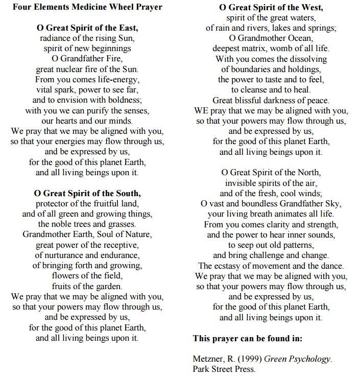 medicine wheel prayer