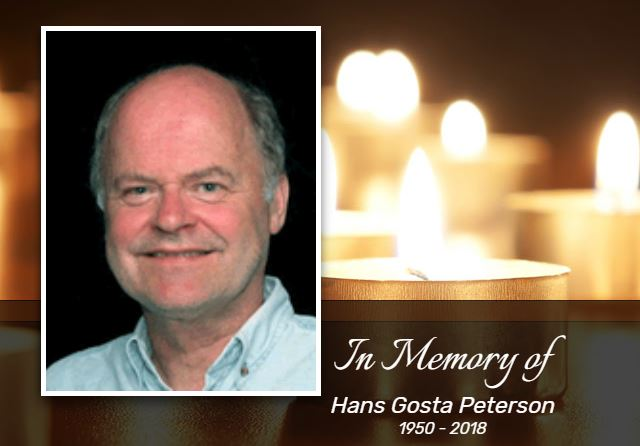 Hans' Picture and Candles from Saskatoon Funeral Home Website