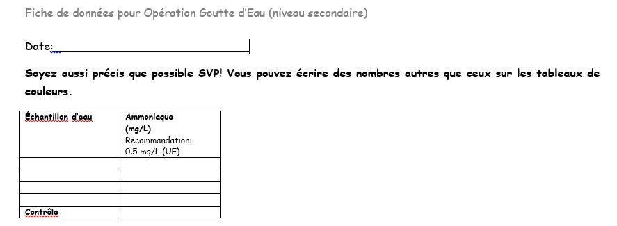 Ammoniaque High School French