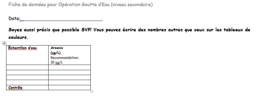 Arsenic High School French
