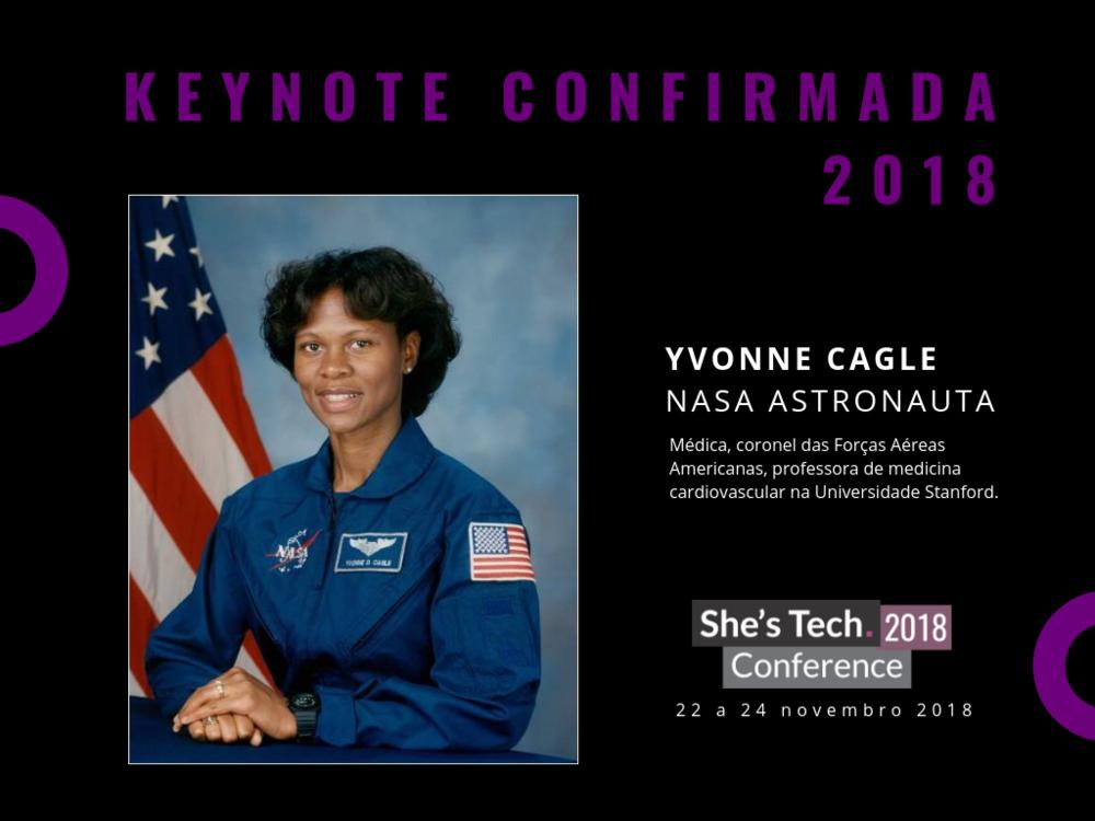NOSSA PATRONA - Com a presença ÉPICA da nossa patronaYvonne Cagle, Astronauta da NASA!