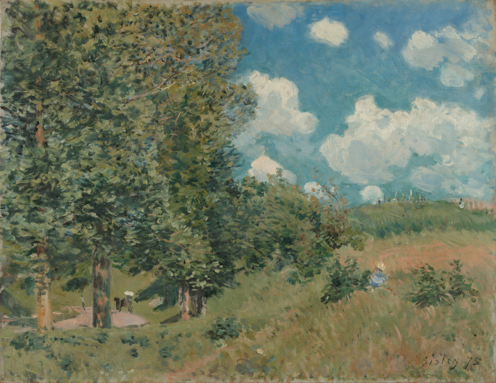 The Road from Versailles to Saint-Germain  by Alfred Sisley. Image Courtesy of the Getty's Open Content Program.