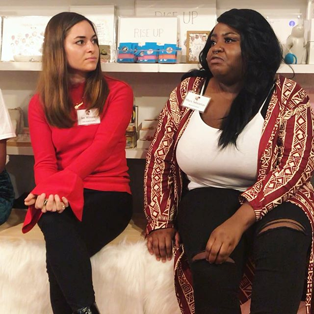 The only thing better than talking on a panel is listening on a panel 🌹🌹🌹 Thank you @bulletin.co & @blairimani for hosting a beautiful convo about Intersectional Feminism (and @extantlifeonmars for captivating the hell outta me in this pic)✨