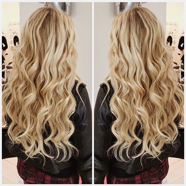 You don't have to wait to have long, healthy looking hair! Get the look today with hair extensions by our team of expert stylists! ✨