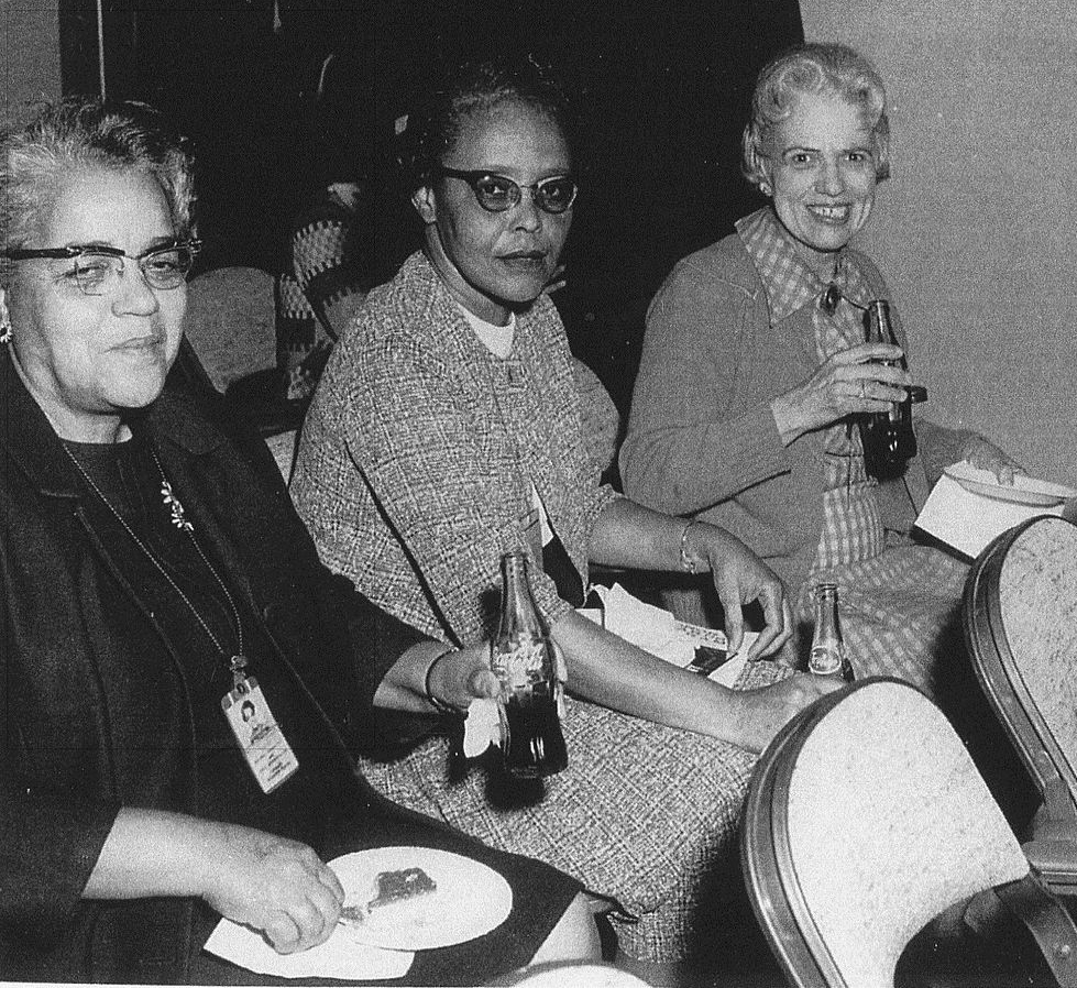 From Left to Right: Dorothy Vaughan, Leslie Hunter, and Vivian Adair.   Credit: Wikipedia Commons