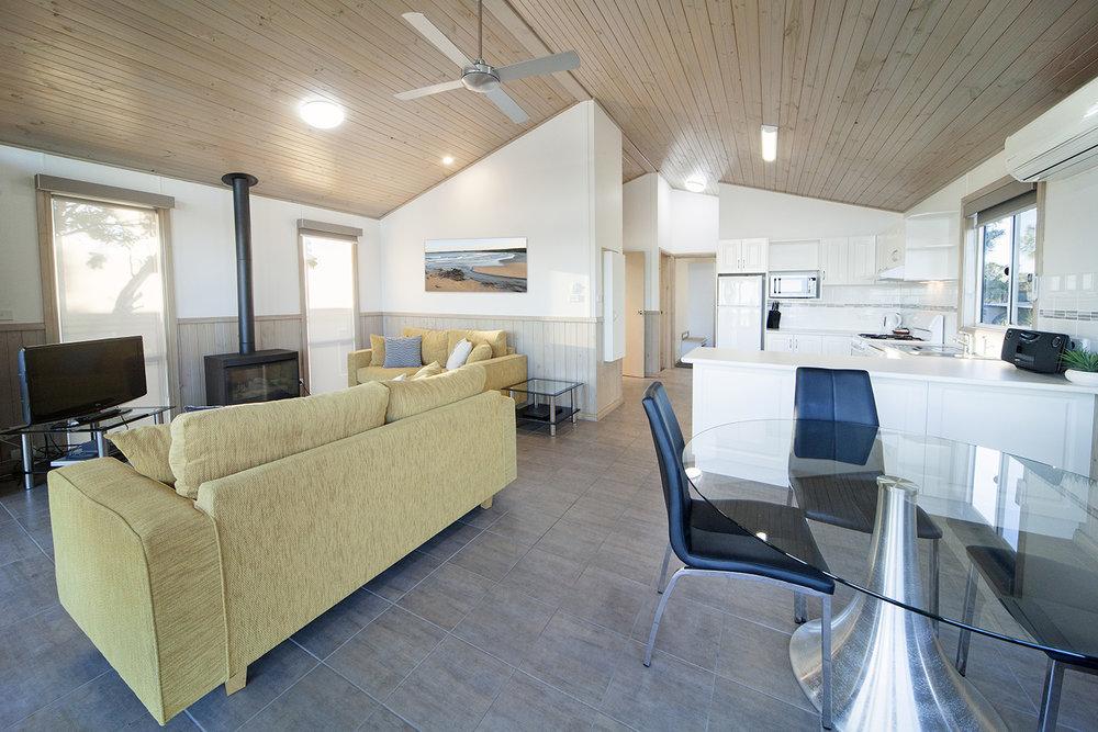 Oceanfront Deluxe, Chalet 17 living area 2.jpg
