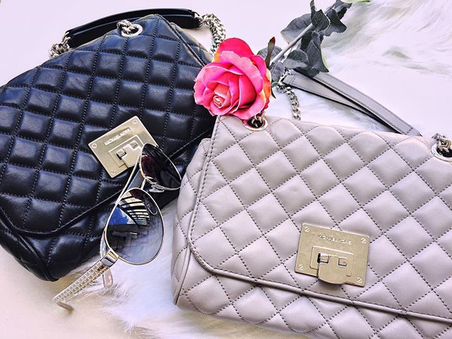 #MichaelKors 🌸  #handbags #accessories ... Black or Grey, what do you think? 🤔