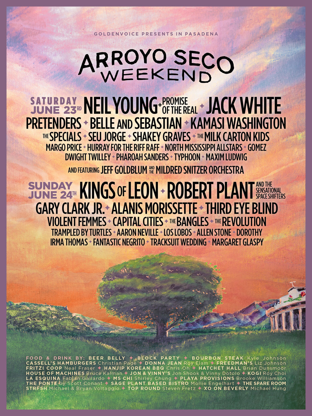 Arroyo Seco Weekend 2018 Poster