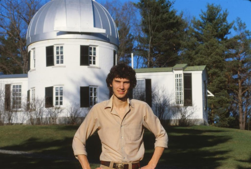 ExtraTech founder, James Fillmore, at the Shattuck Observatory as a graduate student in astronomy.