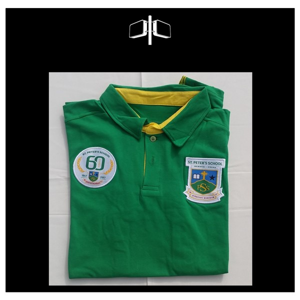 St Peters 60th Limited Edition Polo -Shirt - Green - Yellow.jpg