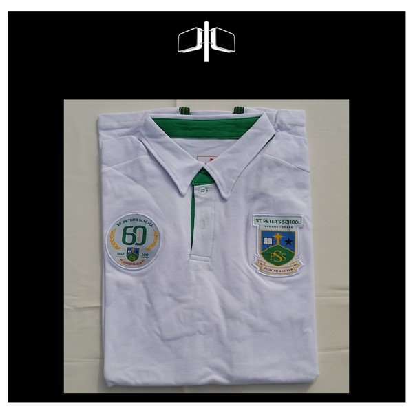 St Peters 60th Limited Edition Polo -Shirt - White - Green.jpg