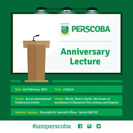 PERSCO 60 - Anniversary Lecture Annoucement
