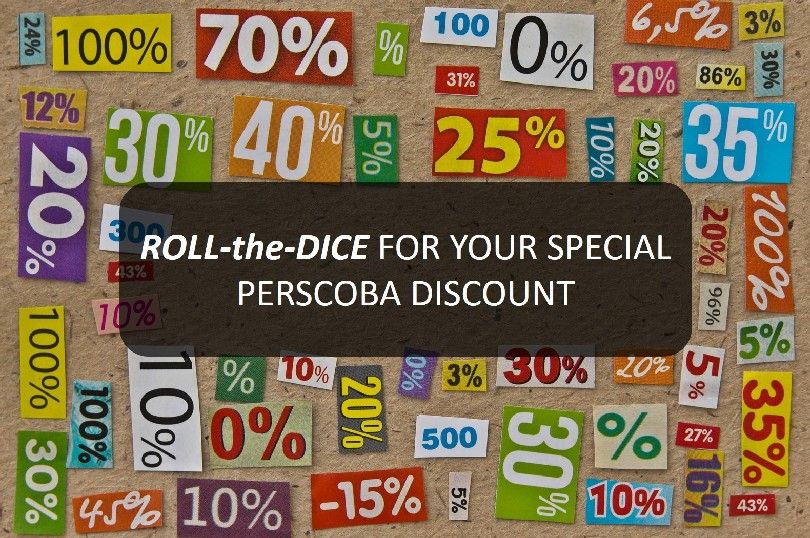 ROLL-the-DICE to Win Your Special PERSCOBA Discount