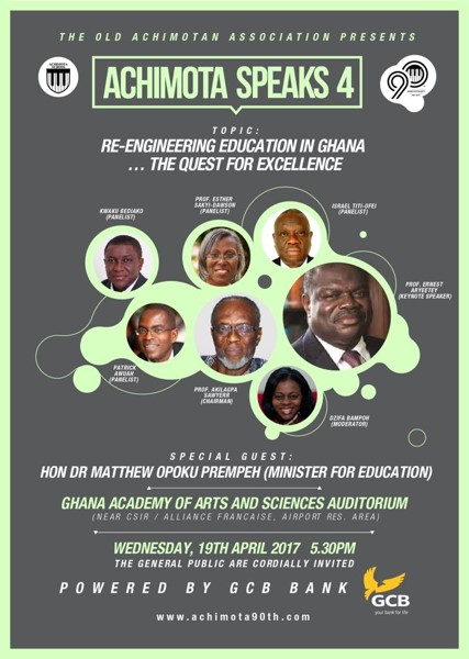 Achimota 90th - Achimota Speaks 4 - Re-Engineering Education In Ghana...The Quest For Excellence