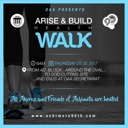 Achimota 90th | Arise & Build Health Walk