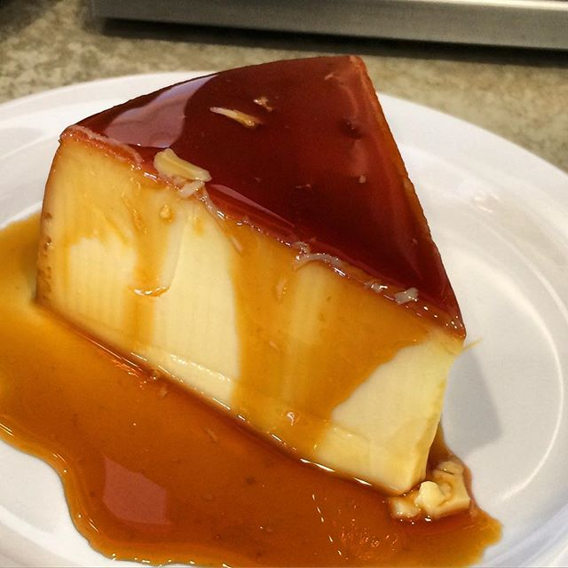 Try our flan!🍮 It is homemade, rich, and creamy. NOT like other places serving a jello flavored like flan. •••••••••••••• call us to place a pick up order if you're in the Orange County area. Our phone number and link to our website are at the top of our profile. Check it out!