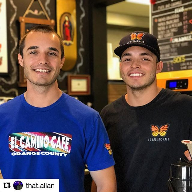 That's what it's all about. Keep up the hard work guys! #Repost @that.allan (@get_repost) ・・・ Taking care of business! With the support of #Tustin, and the local communities of #OrangeCounty we will continue serving #quality Mexican food, and drinks, so visit the family biz @elcaminocafe  Thanks for your help @anacheri & @benmoreland from @be_more_athletics