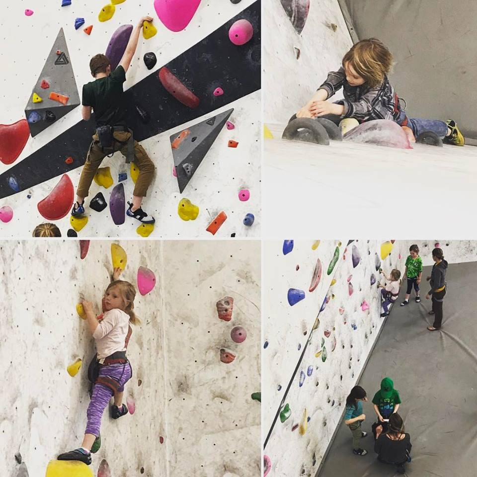Kids monkeying around on the walls!