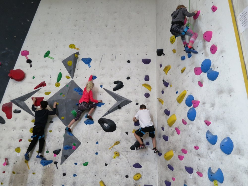 Climbing Club members climbing the walls.