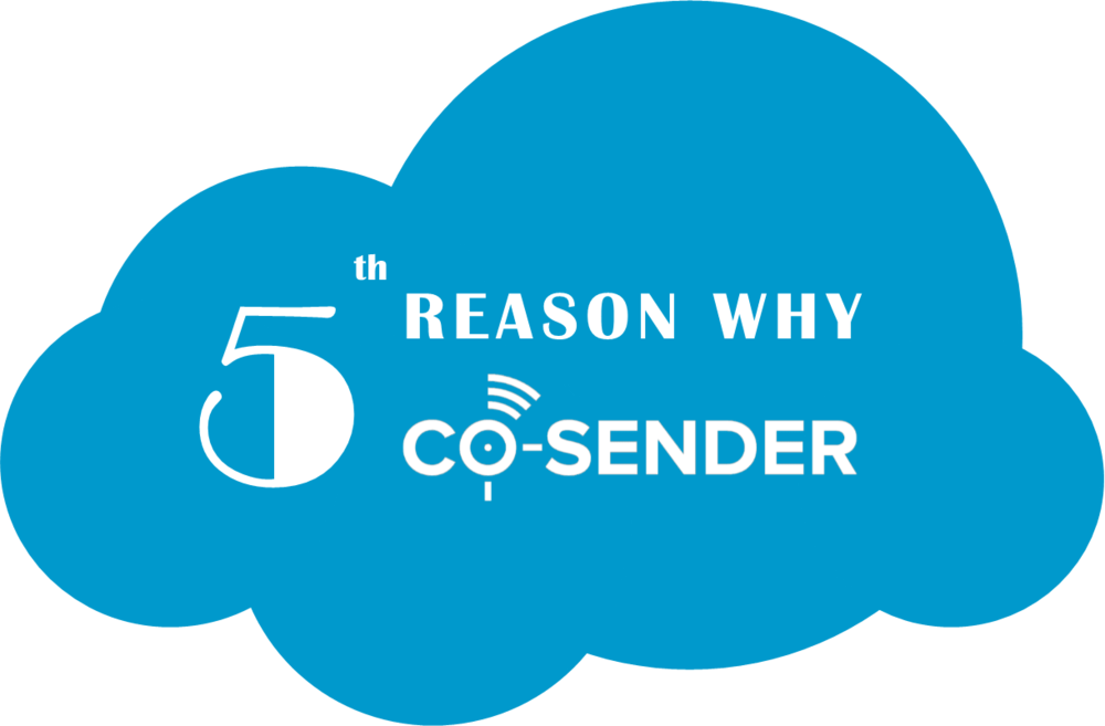 5 reason why CO-SENDER