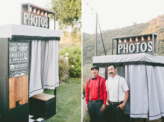 Malibu photo booth vintage rental
