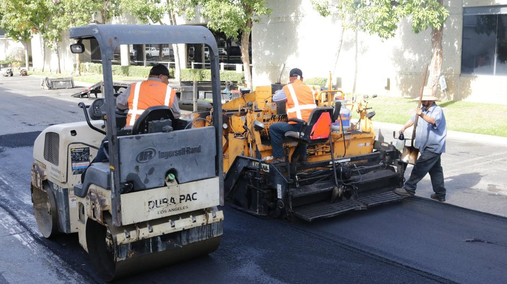 """1.5"""" Asphalt Overlay And Roller Compacting"""