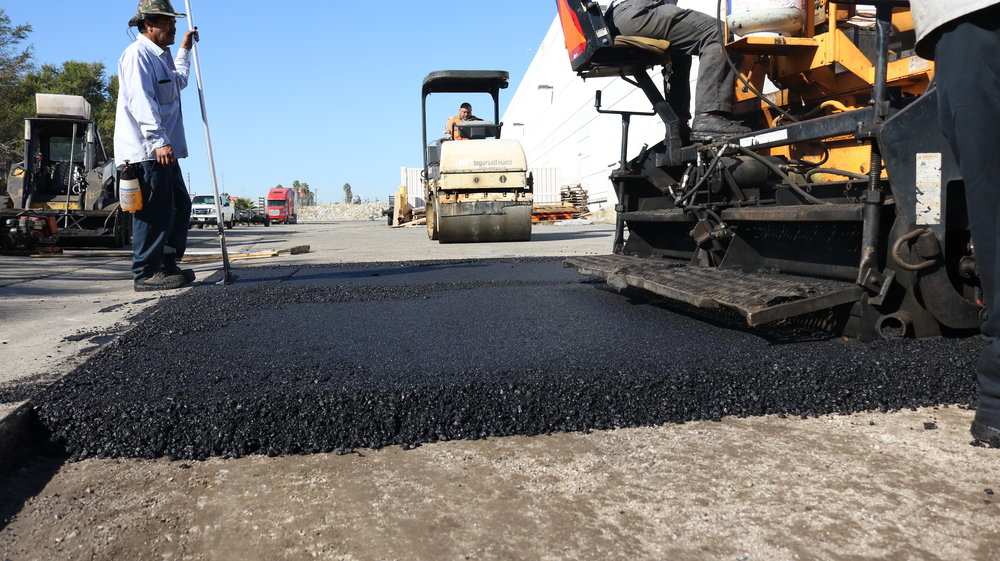 """Laying 6"""" Of Asphalt To A Removed Area"""