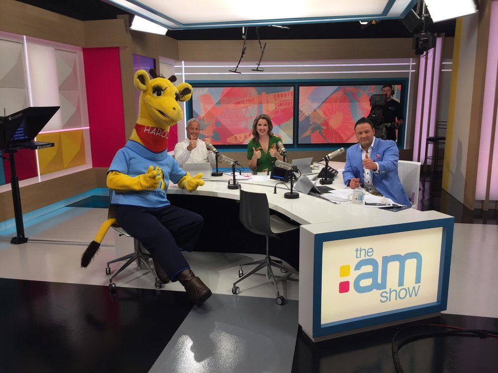 Harold on The AM Show. Image source: Life Education Trust.