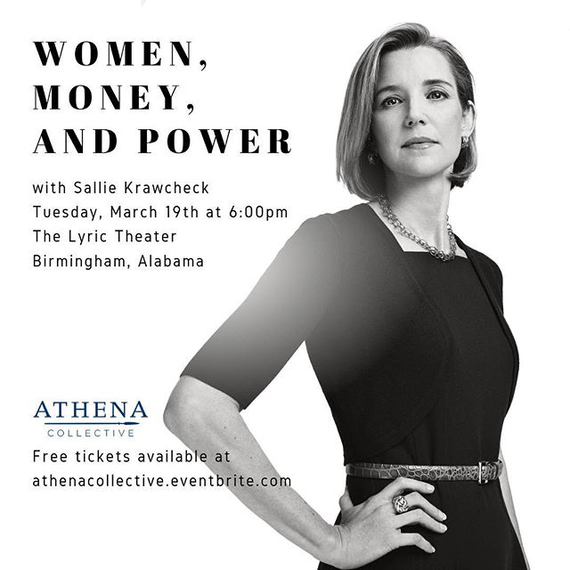 "Fortune Magazine put her on the cover as ""The Last Honest Analyst,"" Forbes has consistently listed her as one of the ""Most Powerful Women"" in business, and she's coming to Birmingham to talk about the gender gap in investing. Sallie Krawcheck, co-founder and CEO of Ellevest, has a history of turning around and growing troubled businesses, earning her reputation once as the ""most powerful woman on Wall Street."" She will share her ideas on how we can change the imbalance that keeps women from achieving their financial goals, and provide insight and solutions that inspire inclusion and equality—not only when it comes to investing, but in using the power of business to make the world a more equitable place. #bethechange  Thank you to our community sponsors @virghazecarter @mgirvin10 @bebegoodrich @mckinneyjess @marymeadowsl @jlmichelson @laurenwoods17 Donna Dearman Smith @whitneycwright Martha Underwood @bmsummerville"