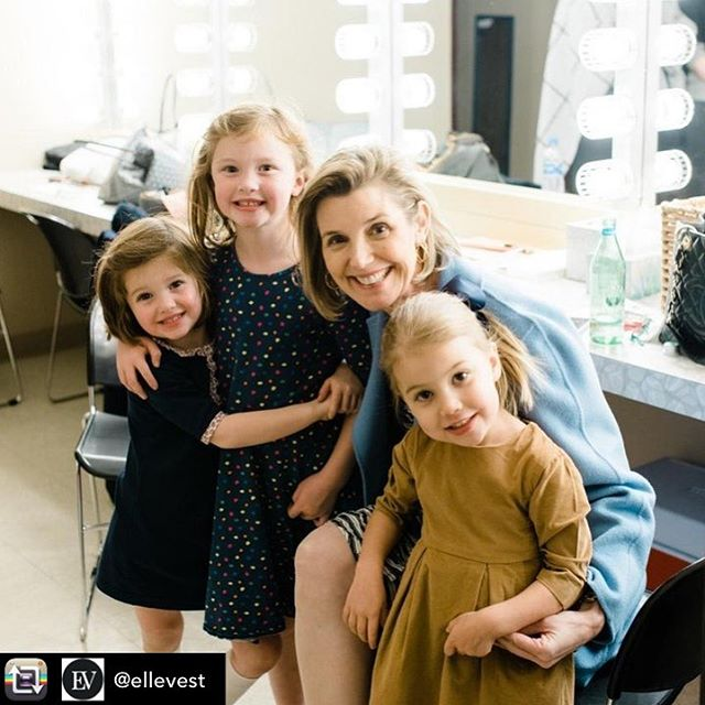 Lead by example; our little ones are watching. Repost from @ellevest - Cuteness Alert: Just CEO Sallie Krawcheck hanging out with some future financial feminists last week at The Lyric in Birmingham with @athenacollective.