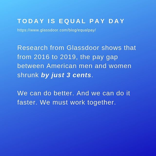 How can you help close the pay gap? Know your worth. Find out what you should be earning based on data about your industry and location. Talk to people you trust about money. Knowledge is power. Share your knowledge. Help others understand their worth. Talk to leaders about fair and equal pay and why it is important to you. If you are a leader, pay the men and women you lead fairly and equally. #bethechange