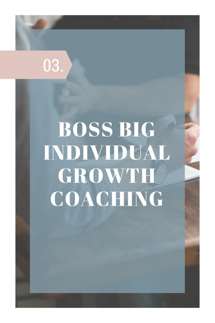 boss big individual growth coaching